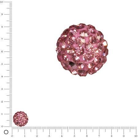 Perle Shamballa - Ø 12 mm - Rose