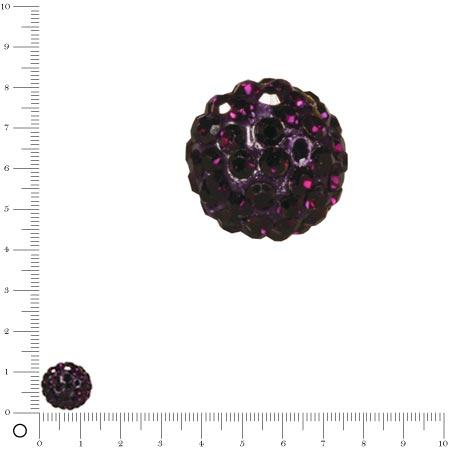Perle Shamballa - Ø 12 mm - Violet