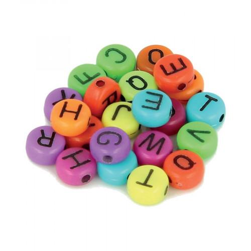 Perles alphabet - Vif - 7 mm - 300 pcs