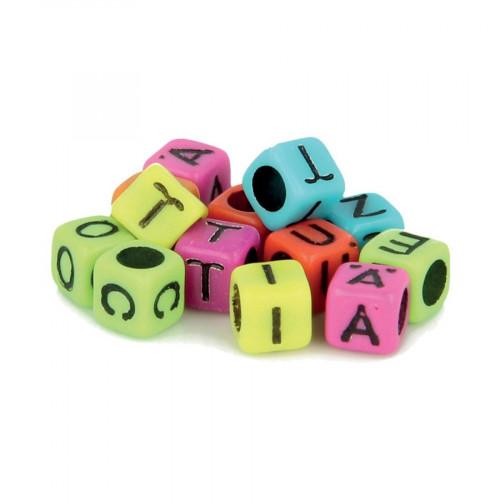 Perles alphabet - Multicolore - 6 mm - 300 pcs