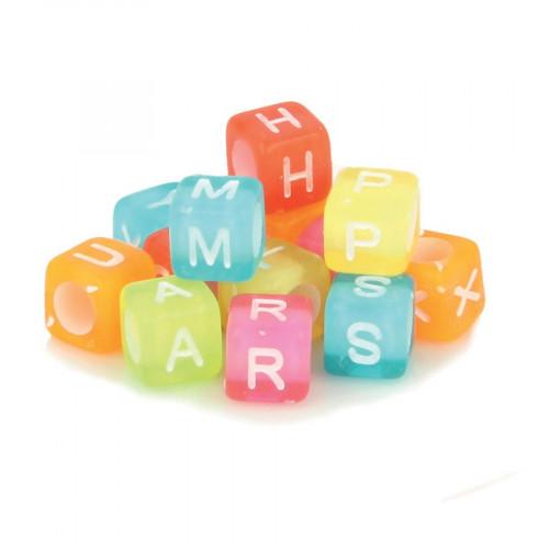 Perles alphabet - Acidulé - 6 mm - 300 pcs