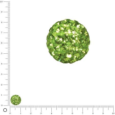Perle Shamballa - Ø 10 mm - Vert Olive