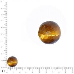 Perles gemmes à facettes