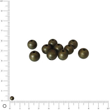 Boule Ø 4 mm - Bronze vieilli - x 10
