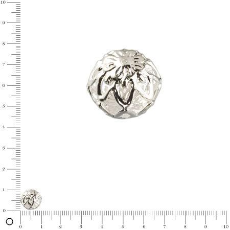 Perle filigranée Ø 10 mm - Argenté x 4 pces