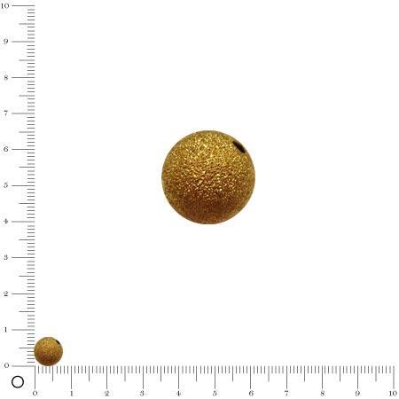 Perle granulée Ø 8 mm - Doré