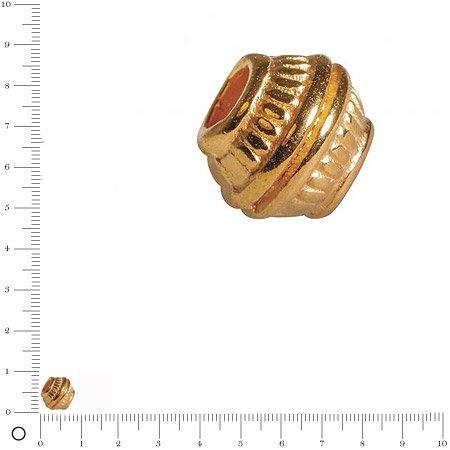 Perle en métal - doré - 7 mm - 3 pcs