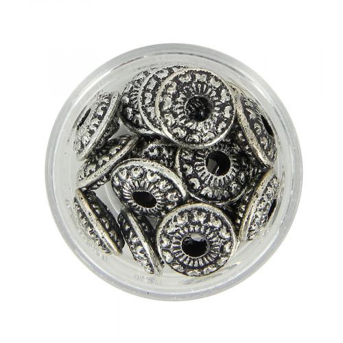 Boîte de perles en métal - Argent - Ø 12 mm