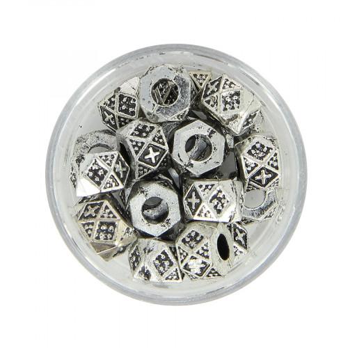 Boîte de perles en métal - Argent - Ø 10 mm