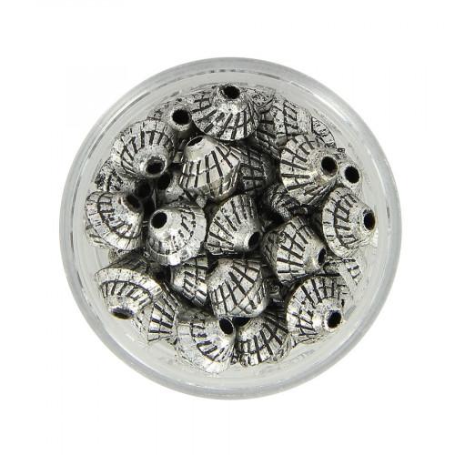 Boîte de perles en métal - Argent - Ø 8 mm
