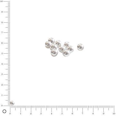Boule Ø 4 mm - Argenté - x 10
