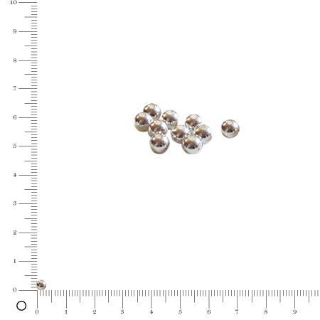Boule Ø 3 mm - Argenté - x 10