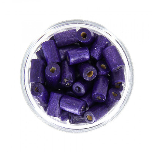 Boîte de perles - Violet - 8 x 5 mm