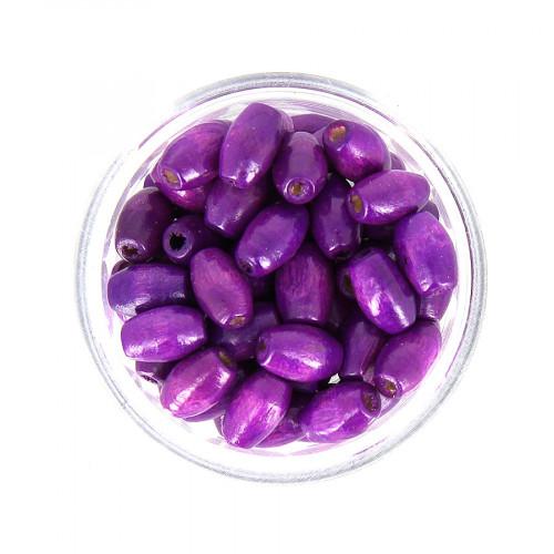 Boîte de perles - Violet prune - 8 x 5 mm