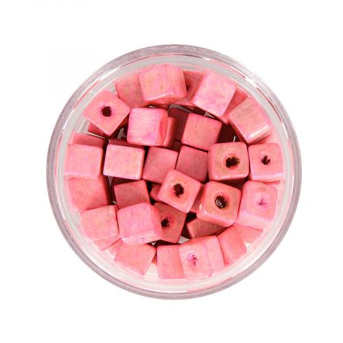 Boîte de perles - Rose - 5 x 5 mm