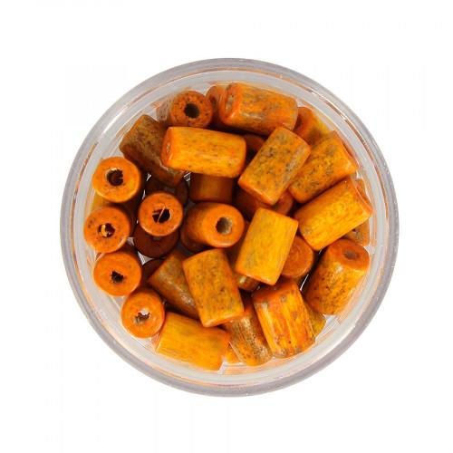 Boîte de perles - Orange vieilli - 8 x 5 mm