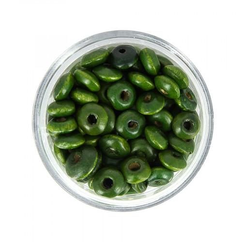 Boîte de perles - Vert sapin - Ø 6 mm