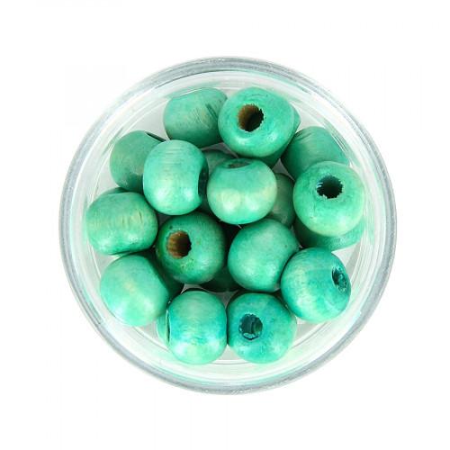 Boîte de perles - Vert emeraude - Ø 8 mm