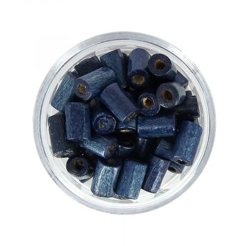 Boîte de perles - Bleu marine - 10 x 5 mm
