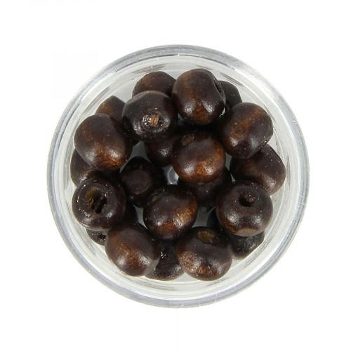 Boîte de perles - Marron foncé - Ø 9 mm