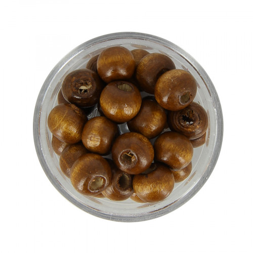 Boîte de perles - Marron clair - Ø 8 mm