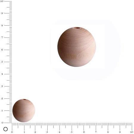 Perles en bois - Ø 20 mm x 50 pces