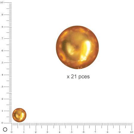 Perles Renaissance - Jaune d'or - Ø 12 mm  x 21 pces
