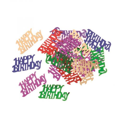 Sequins - Happy Birthday multicolores - 20 g