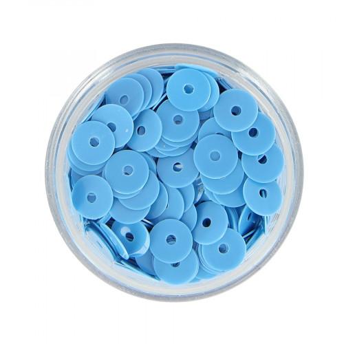 Boîte de perles sequins - Bleu ciel - Ø 7 mm