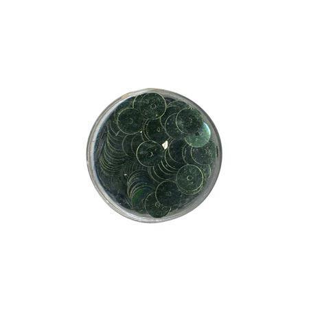 Disque sequins - Vert mousse - 7 mm