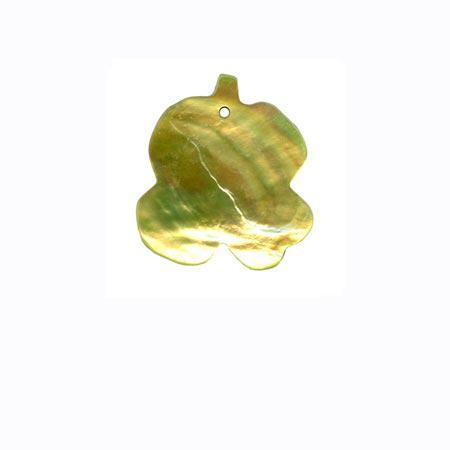 Sequin 1 trou «feuille» - Vert anis
