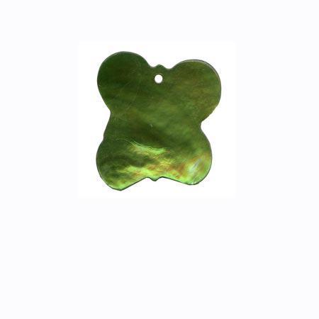 Sequin 1 trou «papillon» - Vert