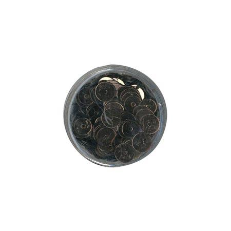 Disque sequins - Brun - 7 mm