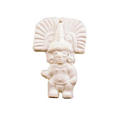 Powertex - Forme en plâtre figurine Inca - h. 10 cm