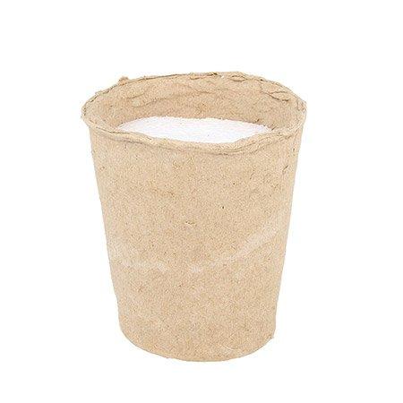 Pot en papier avec mousse - 8 x 6,5 x 9,5 cm