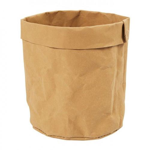 Sac de rangement en papier imitation cuir - Ø 11 x 12 cm