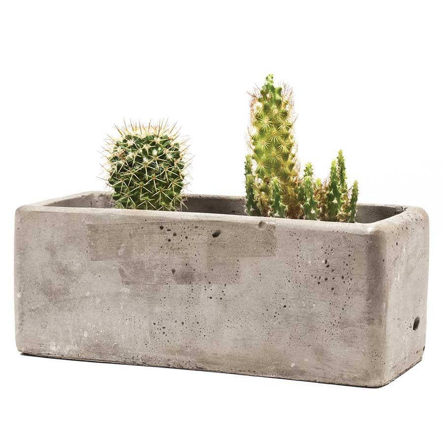 Jardinière en béton - 15 x 8 x 6,5 cm