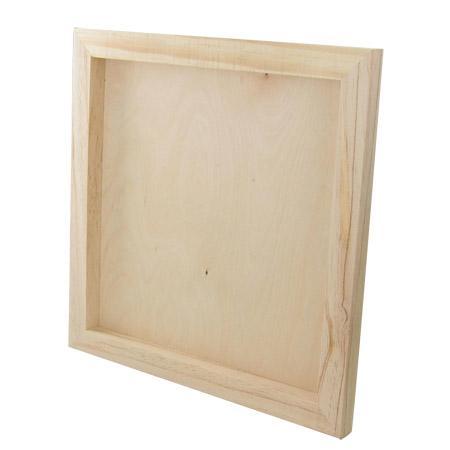 Support à décorer en bois - Châssis en bois - 30 x 30 cm