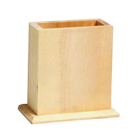 Support à décorer en bois - Pot à crayons - 12 x 7 x 11,5 cm