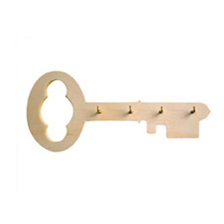 Support à décorer en bois - Porte clés - Clés 19,7 x 8,5 cm