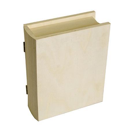 Support à décorer en bois - Boite livre - 21 x 17 x 7 cm