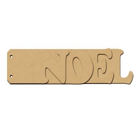 Objet en bois médium - Mini album Noël - 24 x 6,7 cm