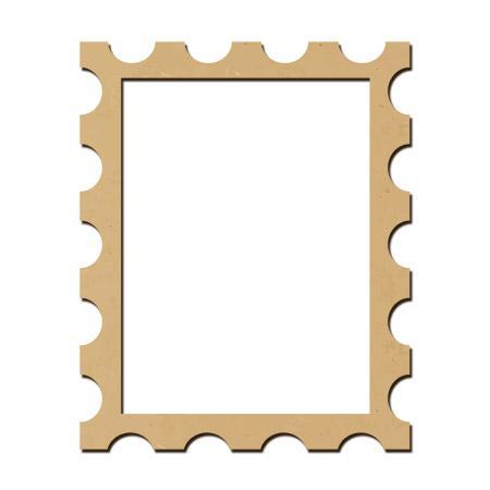 Sujet en bois médium - Photobooth Cadre timbre - 55 x 44,6 cm
