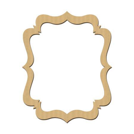 Sujet en bois médium - Photobooth Cadre pointe - 55 x 41 cm