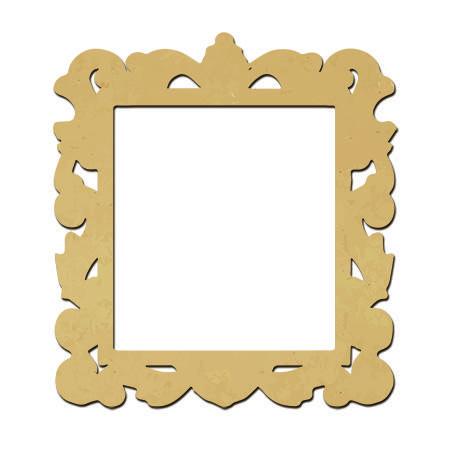 Sujet en bois médium - Photobooth Cadre baroque large - 55 x 50 cm