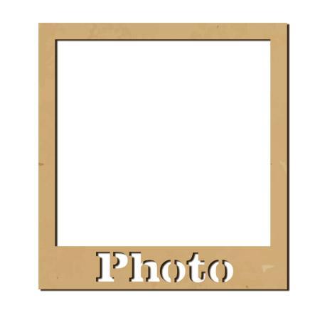 Sujet en bois médium - Photobooth Cadre polaroid Photo - 55 x 51 cm