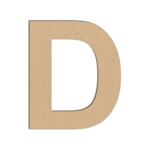 Lettre en bois médium - D majuscule - 10 cm