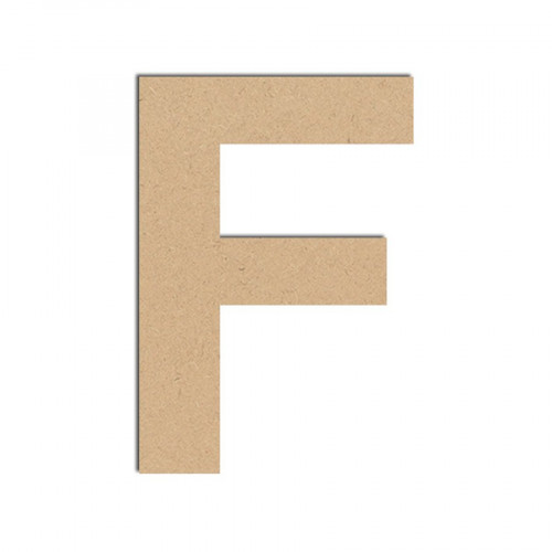 Lettre en bois médium - F majuscule - 10 cm