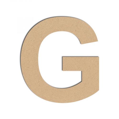 Lettre en bois médium - G majuscule - 10 cm