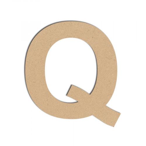 Lettre en bois médium - Q majuscule - 10 cm